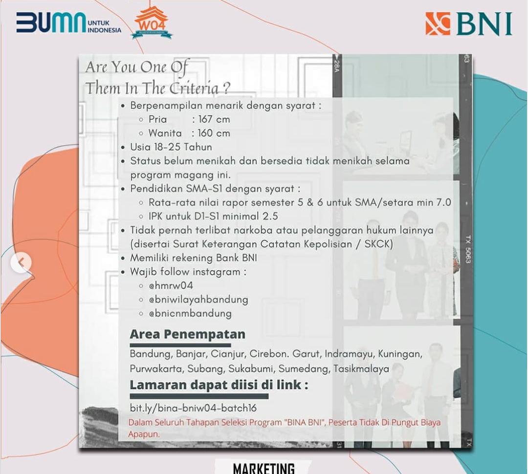 Lowongan Magang Bumn Bank Bni Mei 2021 Goletskerja